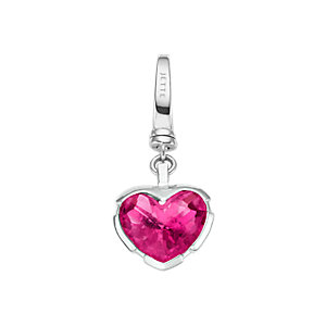 JETTE Charms Herz pink