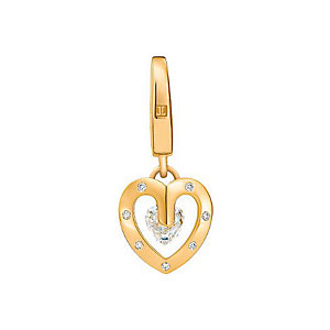 JETTE Gold Charm Heart Rock