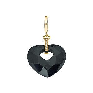 JETTE Gold  Charm Secret Hearts