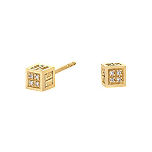 JETTE GoldEN CUBE Ohrstecker