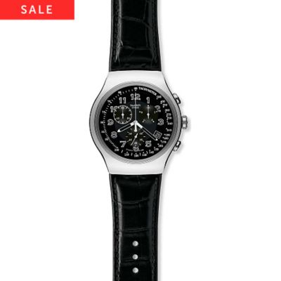 SWATCH Chronograph Your Turn Black YOS440