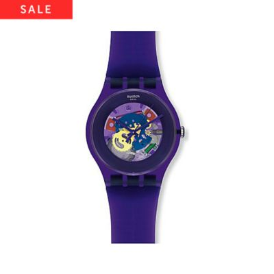 Swatch Herrenuhr Purple Lacquered SUOV100
