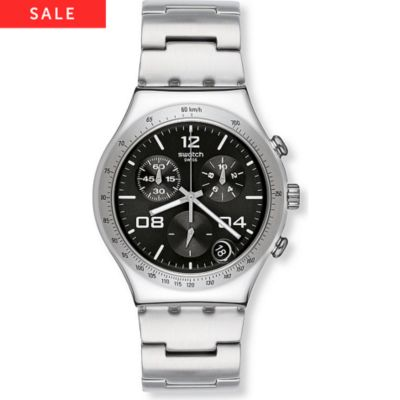 Swatch Herrenchronograph Blustery Black YCS564G
