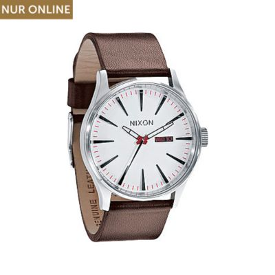 Nixon Herrenuhr Sentry Leather White A105 100