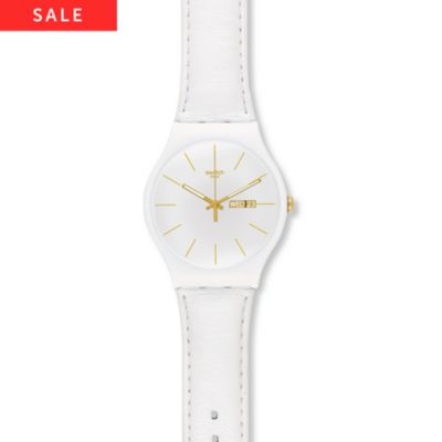 Swatch Herrenuhr White Character SUOW703