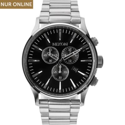 Nixon Herrenchronograph Sentry Chrono Black A386 000