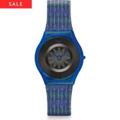 Swatch Herrenuhr Breezy Feather SFS102