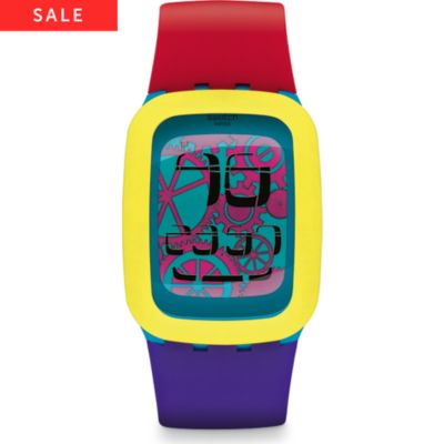 Swatch Herrenuhr Yellow Tang SURS101