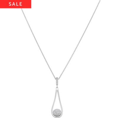 JETTE Silver Collier Swinging Dot 86508958