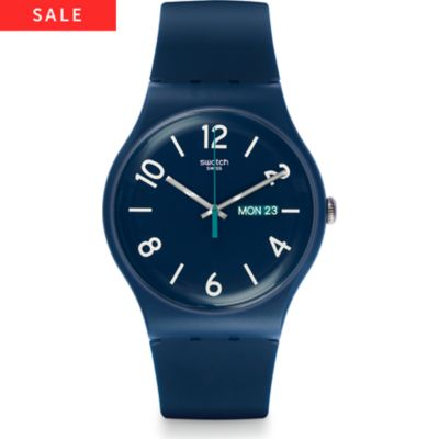 Swatch Herrenuhr Backup-blue SUON705
