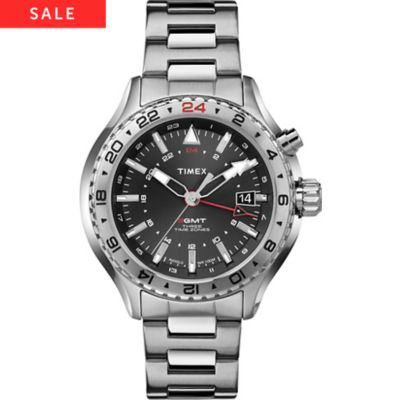 Timex Herrenuhr 3-GMT mit Intelligent Quartz T2P424