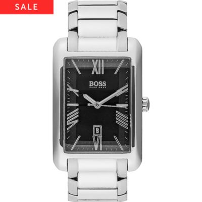 BOSS Herrenuhr Ambassador Rectangular 1513028