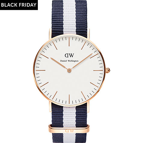 The Daniel Wellington watch with its interchangeable straps speaks for a classic and timeless design suitable for every occasion.