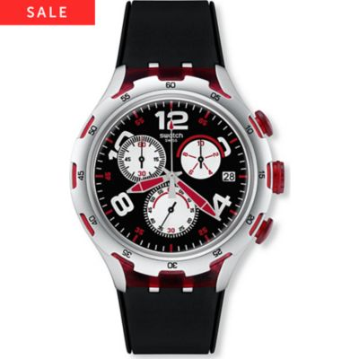 Swatch Herrenchronograph Red Wheel YYS4004