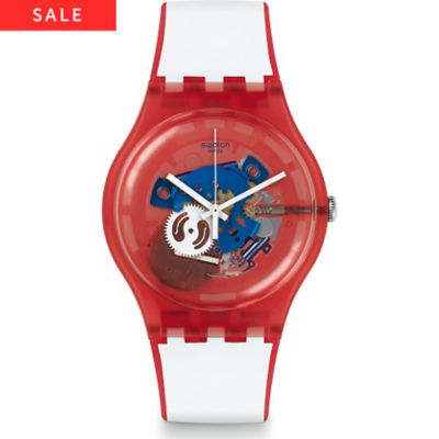 Swatch Unisexuhr Clownfish Red SUOR102