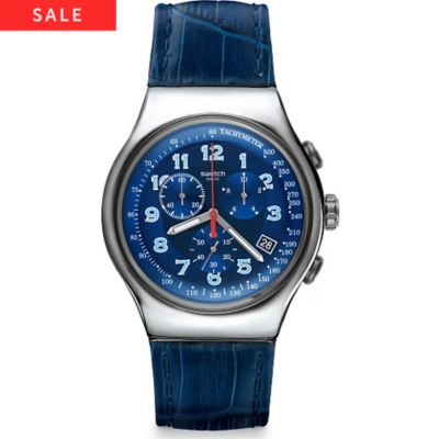 Swatch Herrenchronograph Blue Turn YOS449