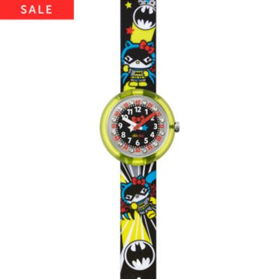 Flik Flak Kinderuhr Hello Kitty Batgirl FLNP016