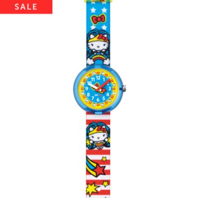 Flik Flak Kinderuhr Hello Kitty Supergirl FLNP017