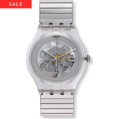 Swatch Herrenuhr Cleared Up S SUOK105FB