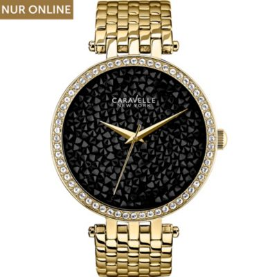Caravelle New York Damenuhr Crystals 44L121