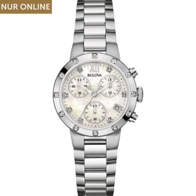 Bulova Damenchronograph Diamonds 96W202