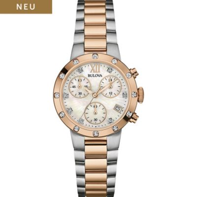 Bulova Damenchronograph Diamonds 98W210
