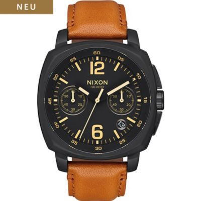 Nixon Herrenuhr Charger Chrono Leather A1073 2447-00