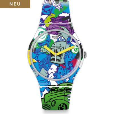 Swatch Herrenuhr Wall Paint SUOW133