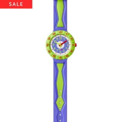 Flik Flak Kinderuhr Purple Flower FCSP035