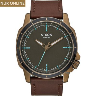 Nixon Damenuhr Ranger Ops Leather Brass A914-2373-00