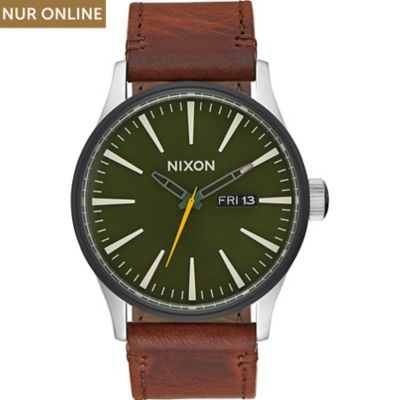 Nixon Herrenuhr Sentry Leather Surplus A105-2334-00