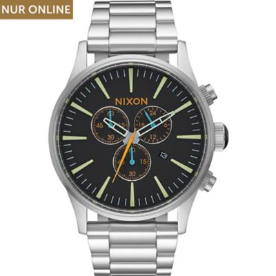 Nixon Herrenuhr Sentry Chrono Black A386-2336-00