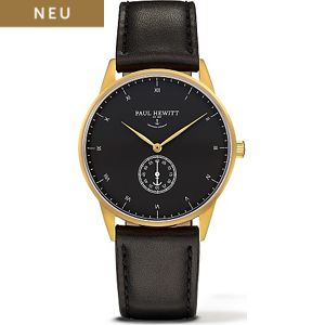 Paul Hewitt Signature Line Uhr Nautical Gold Mark I Black Sea PH-M1-G-B-2