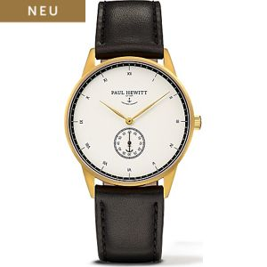 Paul Hewitt Signature Line Uhr Nautical Gold Mark I White Ocean PH-M1-G-W-2