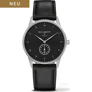 Paul Hewitt Signature Line Uhr Silber Mark I Black Sea PH-M1-S-B-2