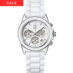 JETTE Damenchronograph Rock Solid White