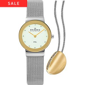 Skagen Highlight-Set inkl. Kette gratis SKW1053