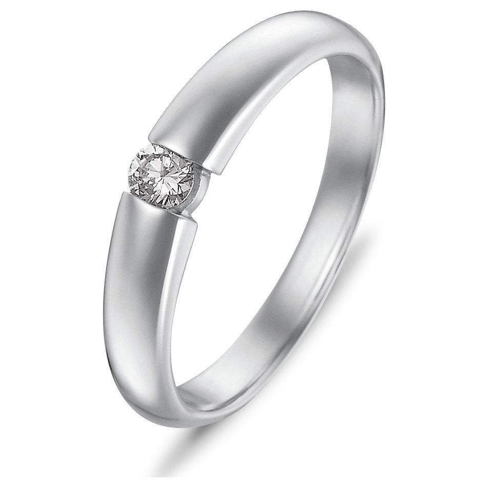 Christ Diamonds Damenring 60001758 Weissgold Gunstig Schnell