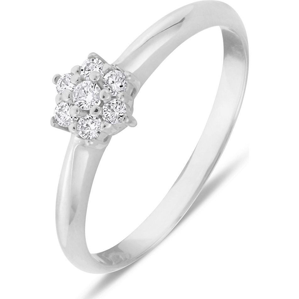 Christ Diamonds Damenring 60074453 Weissgold Gunstig Schnell