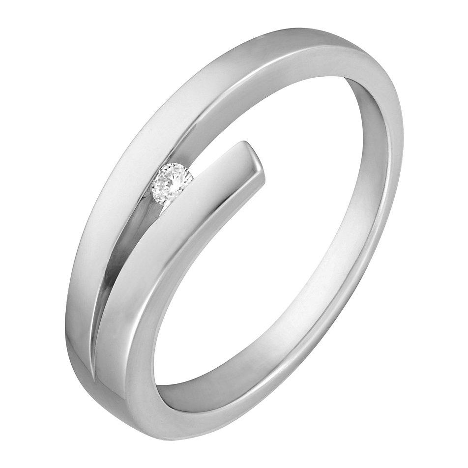 christ silberring mit diamant 31201143 online kaufen. Black Bedroom Furniture Sets. Home Design Ideas