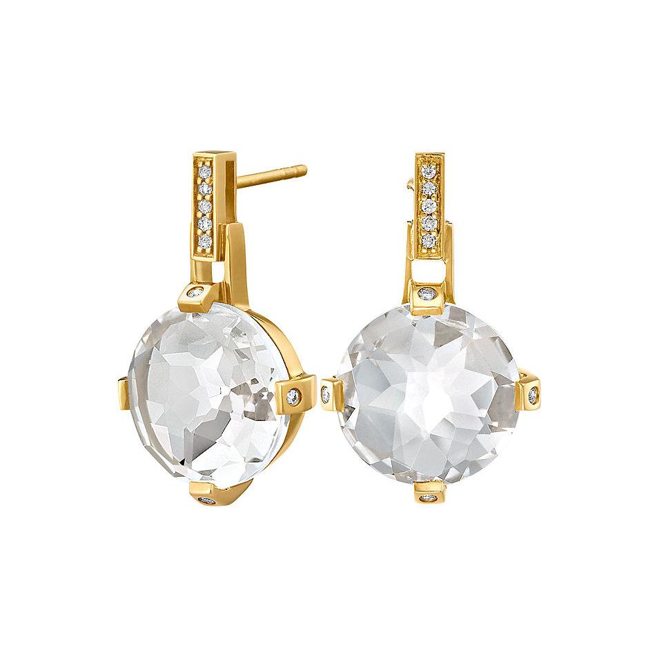 jete joop manhattan ohrschmuck 750 gold mit bergkristall und brillanten zus ca ct. Black Bedroom Furniture Sets. Home Design Ideas