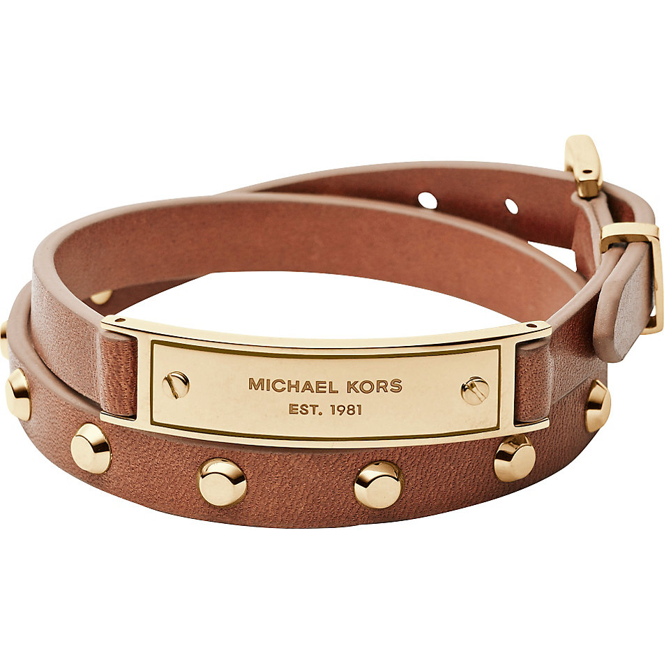 brand new michael kors brown double wrap leather bracelet mkj3546710 mkj3546 ebay. Black Bedroom Furniture Sets. Home Design Ideas