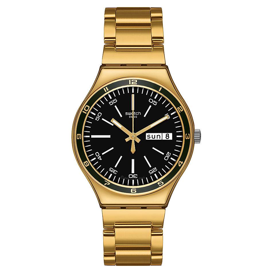 swatch uhren gold