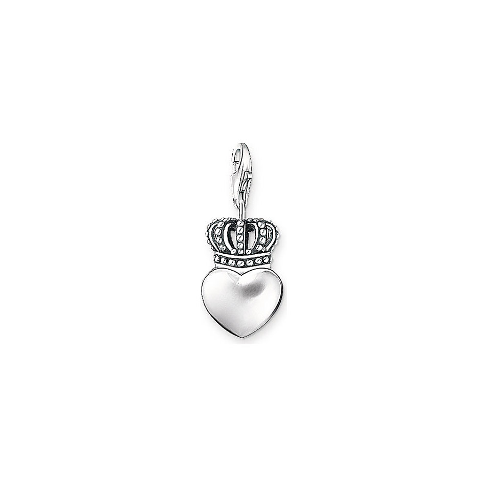 charm thomas sabo herz mit krone 0713 001 12 online bei bestellen. Black Bedroom Furniture Sets. Home Design Ideas