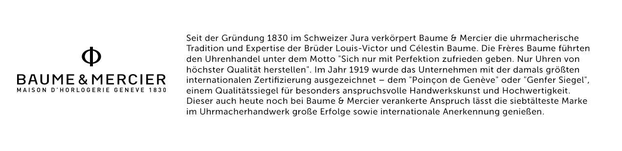 Baume et Mercier Logo und Text