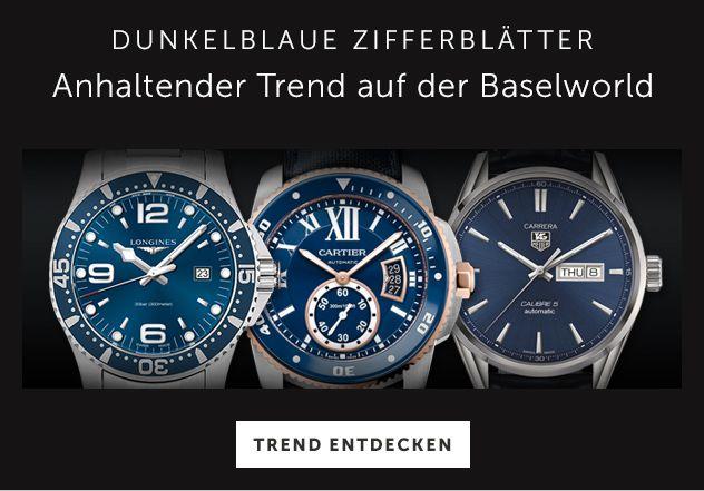 Uhren mit blauem Zifferblatt