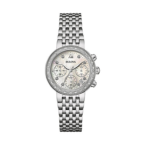 Bulova Damenchronograph Diamonds 96W204