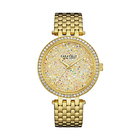Caravelle New York Damenuhr Crystals 44L184