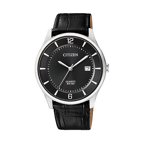 Citizen Herrenuhr Leather BD0041-03F