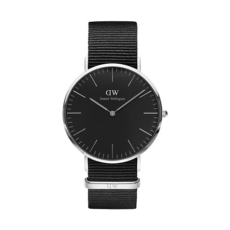 Daniel Wellington Herrenuhr Classic Black Cornwall